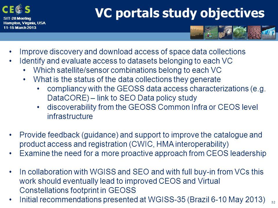 VC portals study objectives