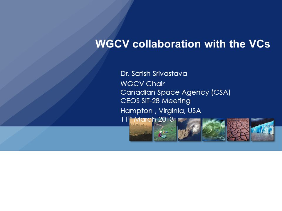 WGCV collaboration with the VCs