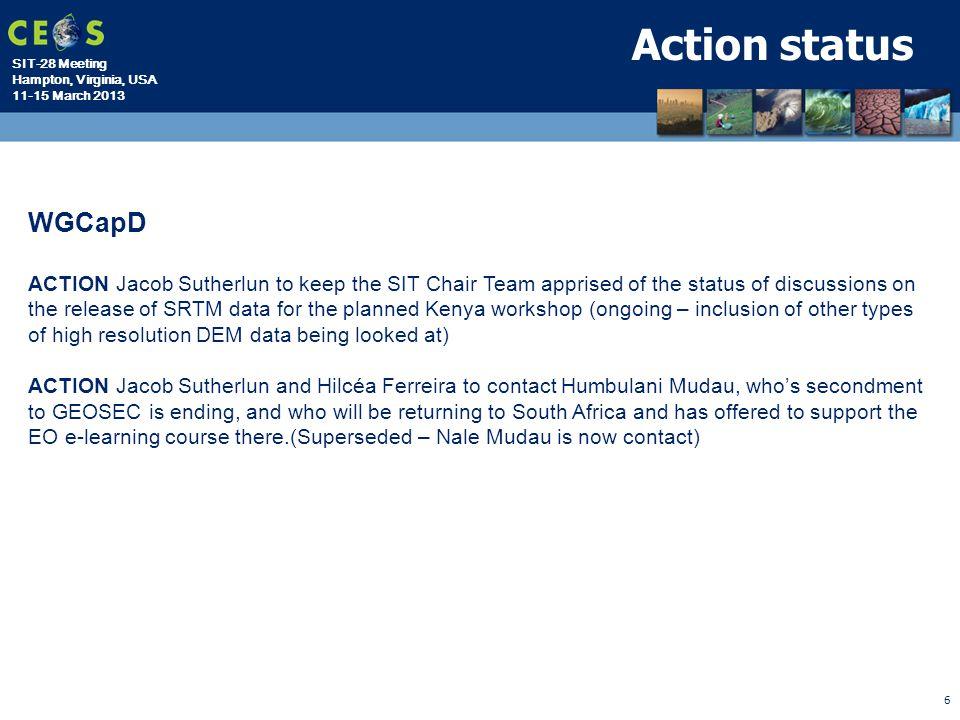 Action status WGCapD.