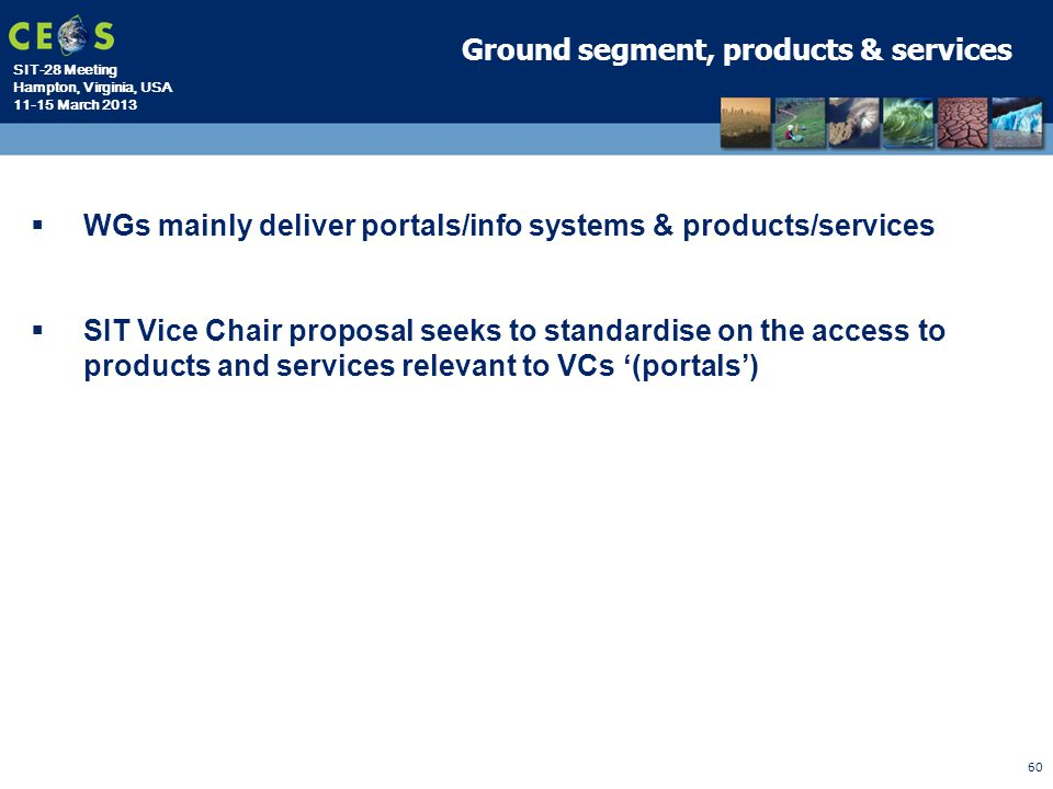 Ground segment, products & services