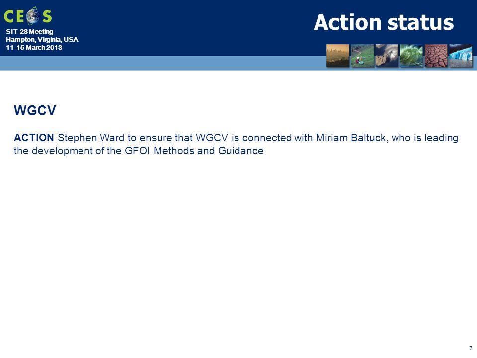Action status WGCV.