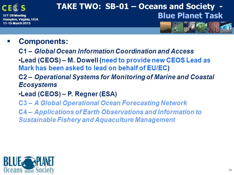TAKE TWO: SB-01 – Oceans and Society - Blue Planet Task