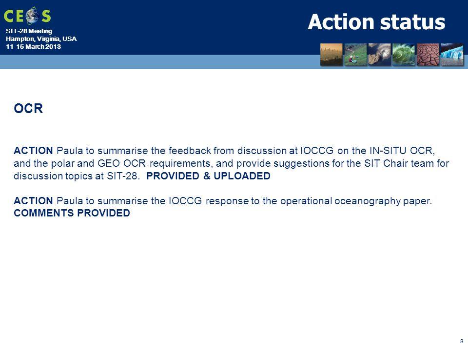 Action status OCR.