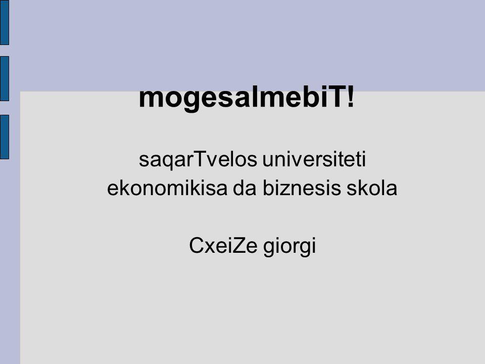 saqarTvelos universiteti ekonomikisa da biznesis skola CxeiZe giorgi