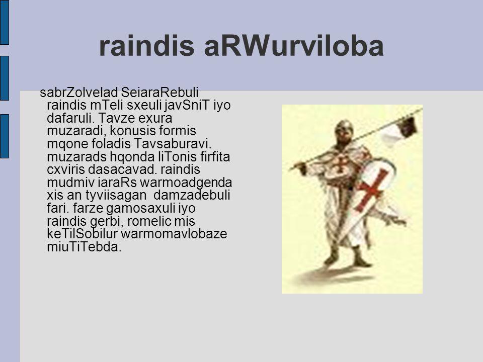raindis aRWurviloba