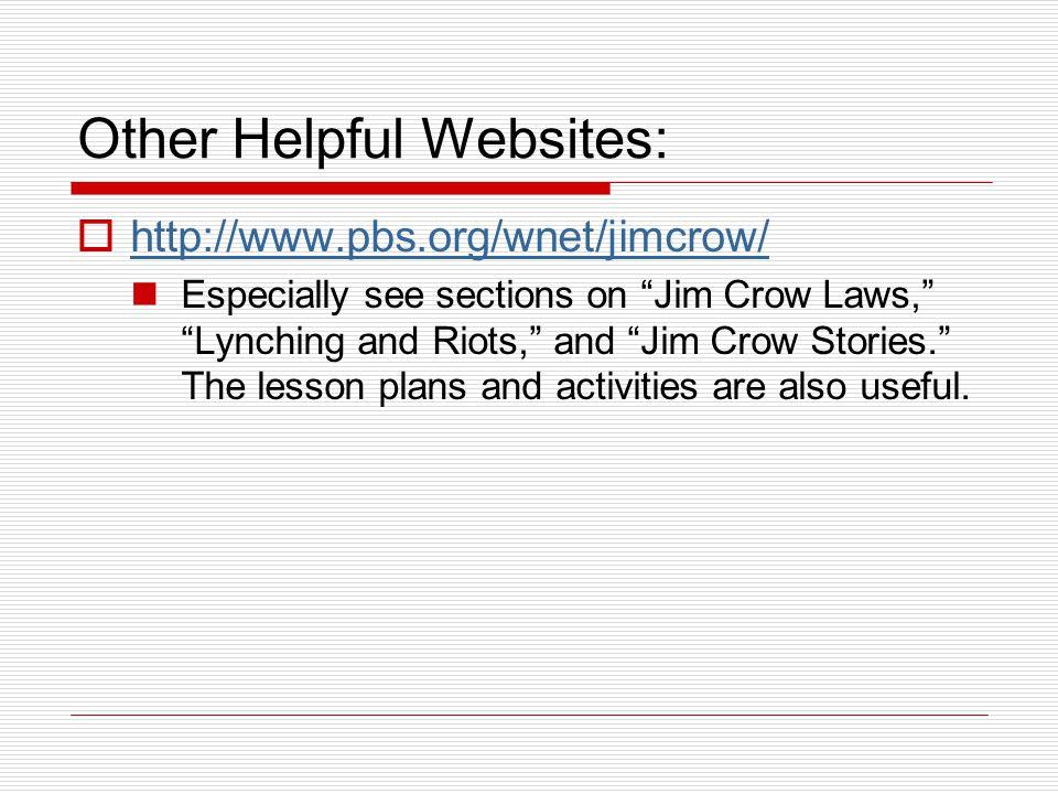 Other Helpful Websites: