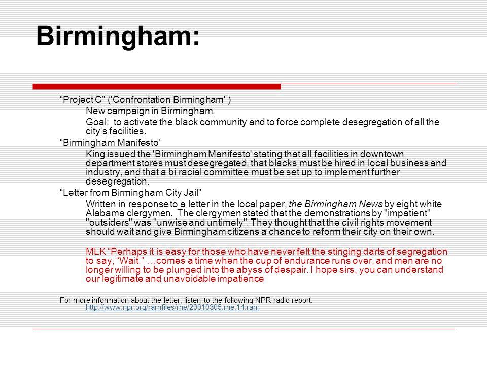 Birmingham: Project C ( Confrontation Birmingham )