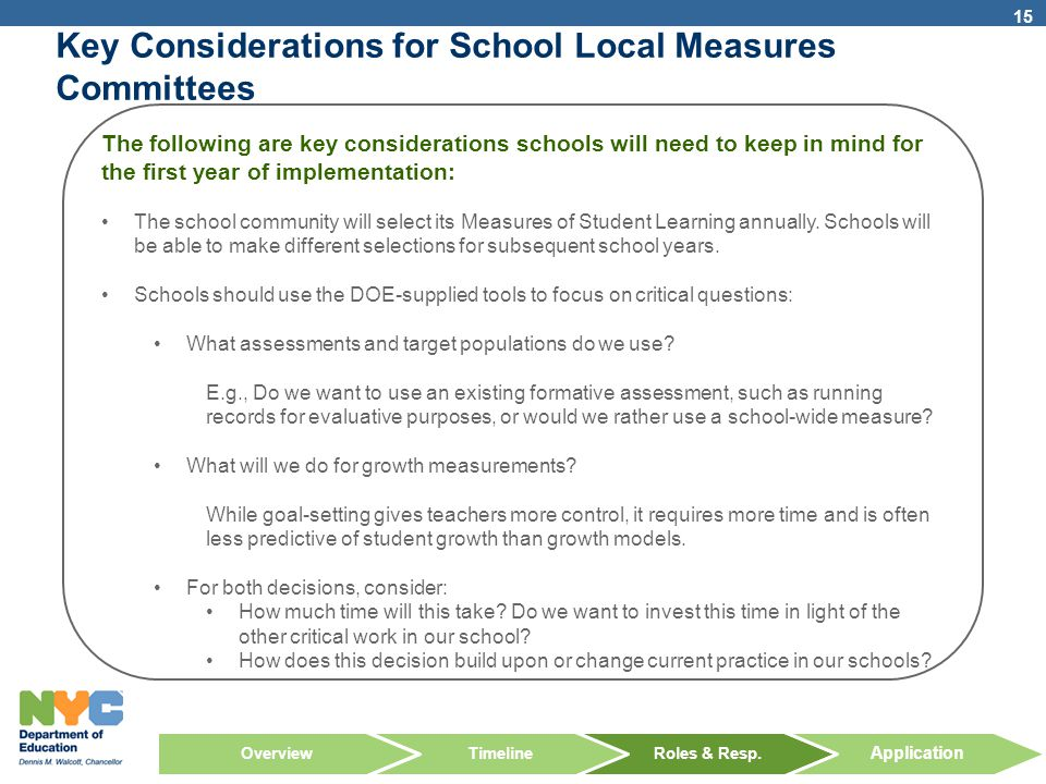 Key Considerations for School Local Measures Committees