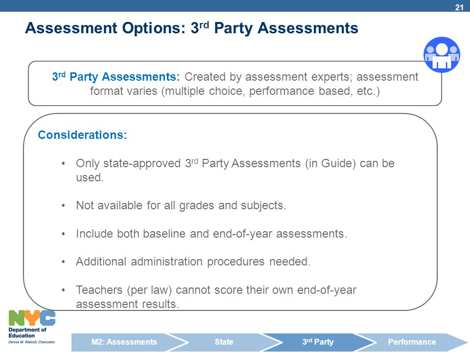 Assessment Options: 3rd Party Assessments