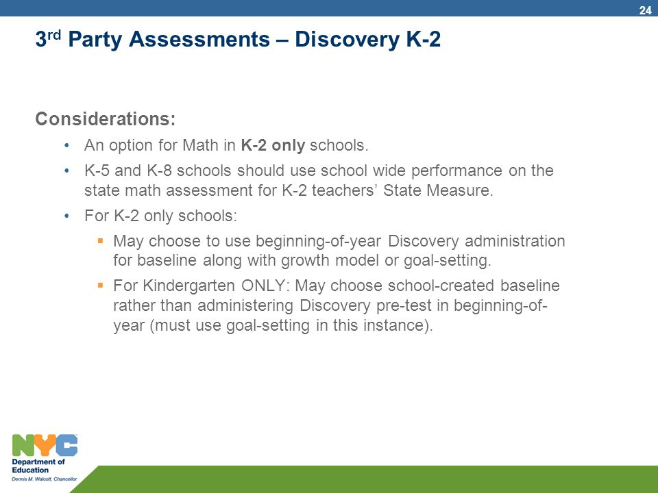 3rd Party Assessments – Discovery K-2