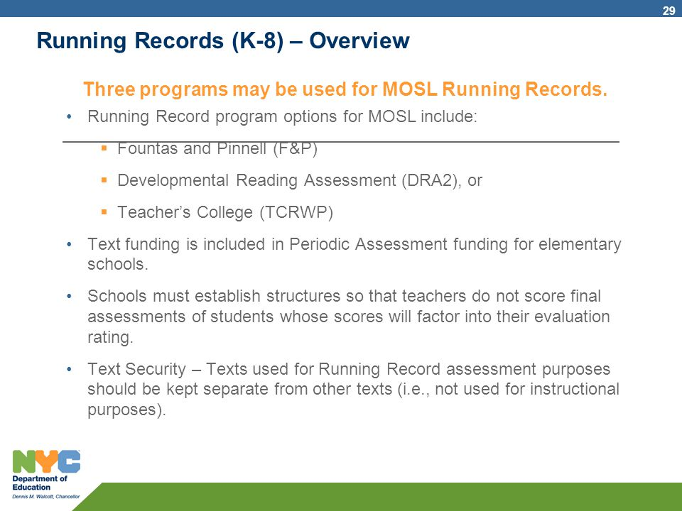 Running Records (K-8) – Overview