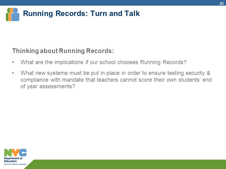 Running Records: Turn and Talk