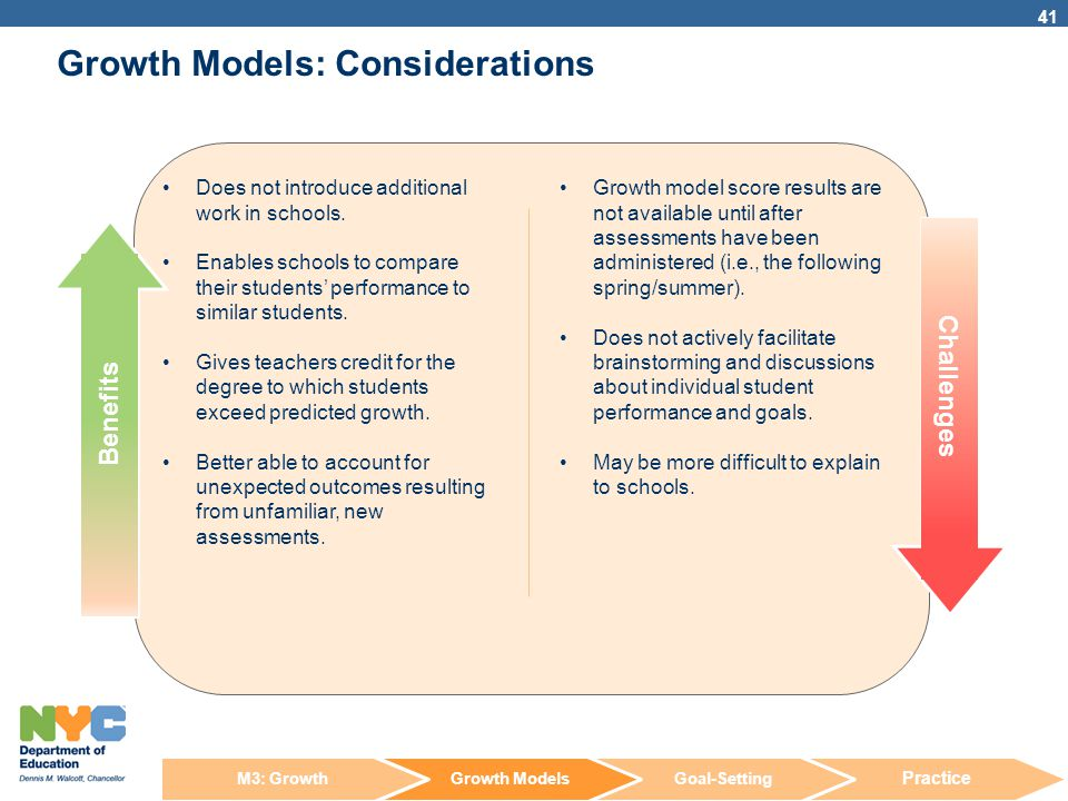 Growth Models: Considerations