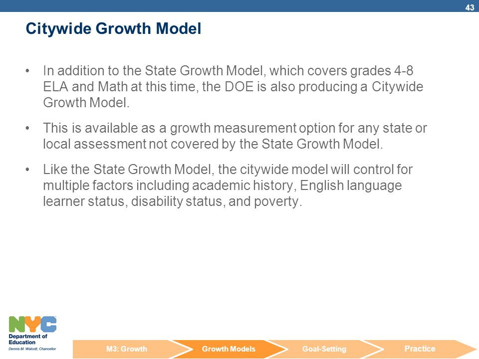 Citywide Growth Model