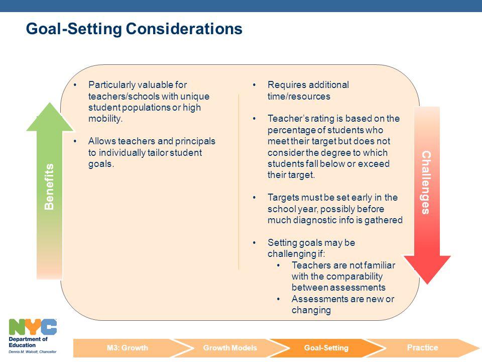Goal-Setting Considerations
