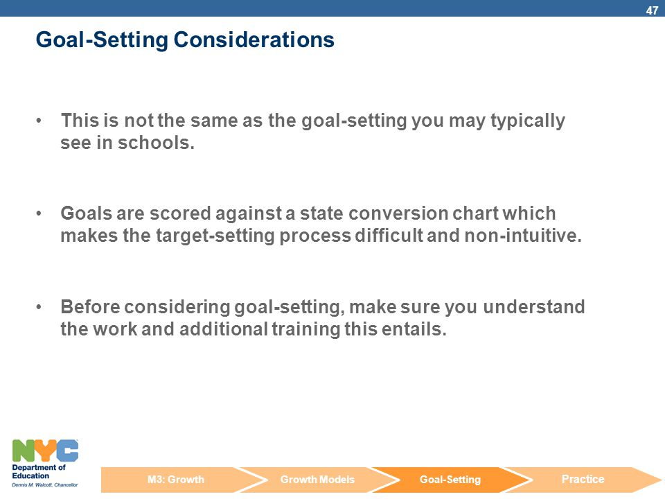 Goal-Setting Considerations