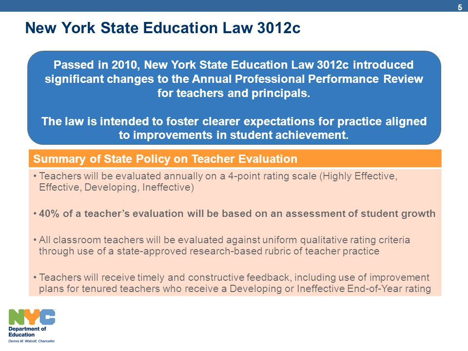 New York State Education Law 3012c