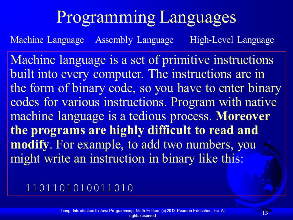 How does one write a program in machine language from windows?