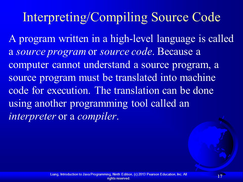Interpreting/Compiling Source Code