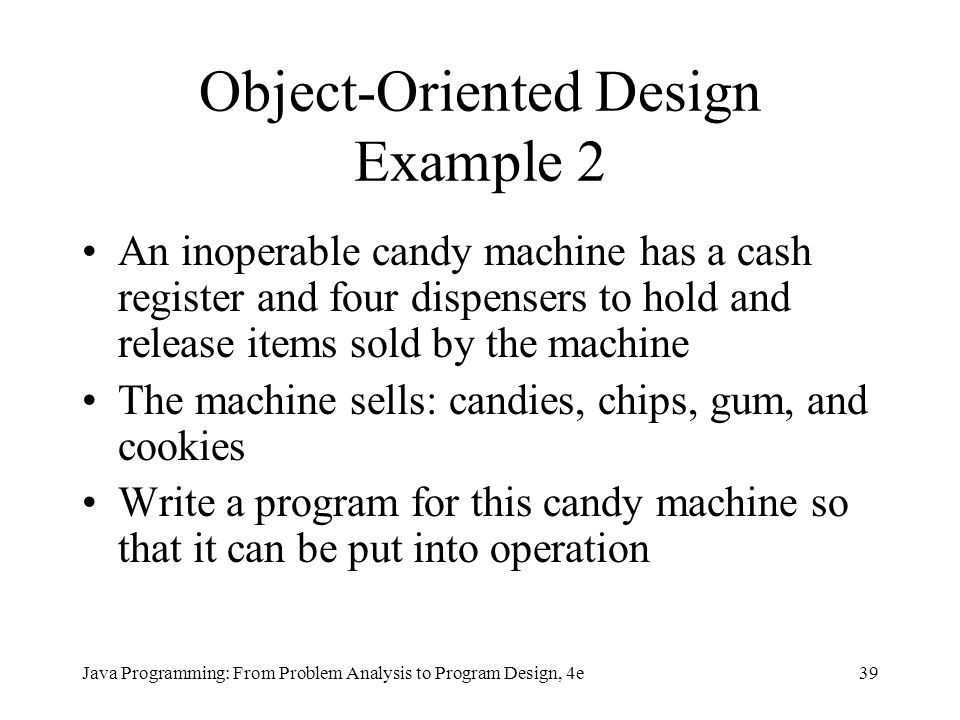 Object-Oriented Design Example 2