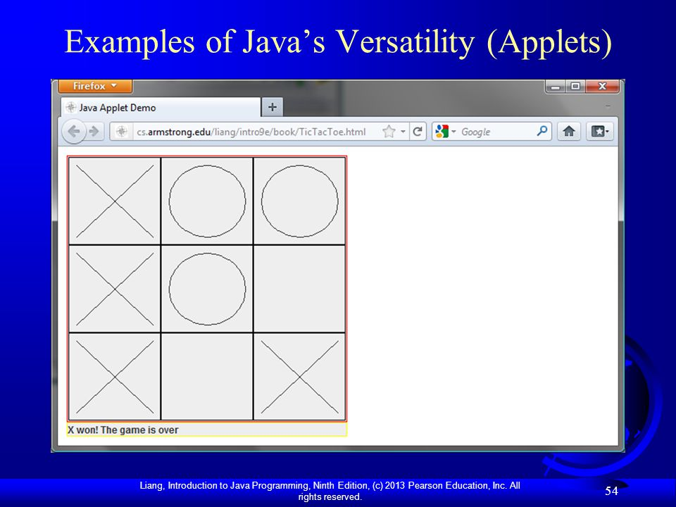Examples of Java's Versatility (Applets)