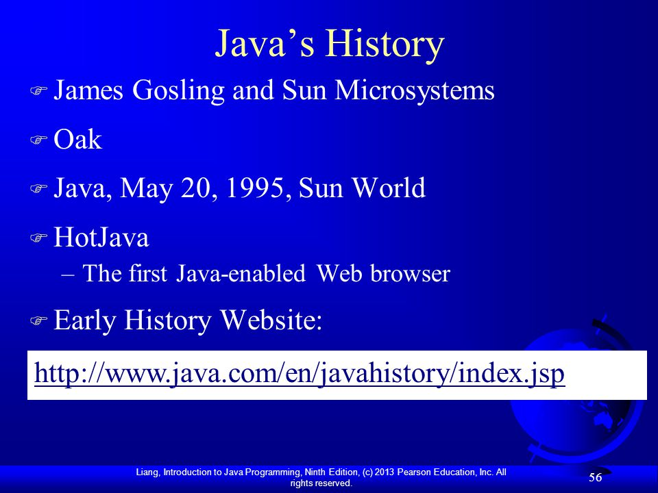 Java's History James Gosling and Sun Microsystems Oak