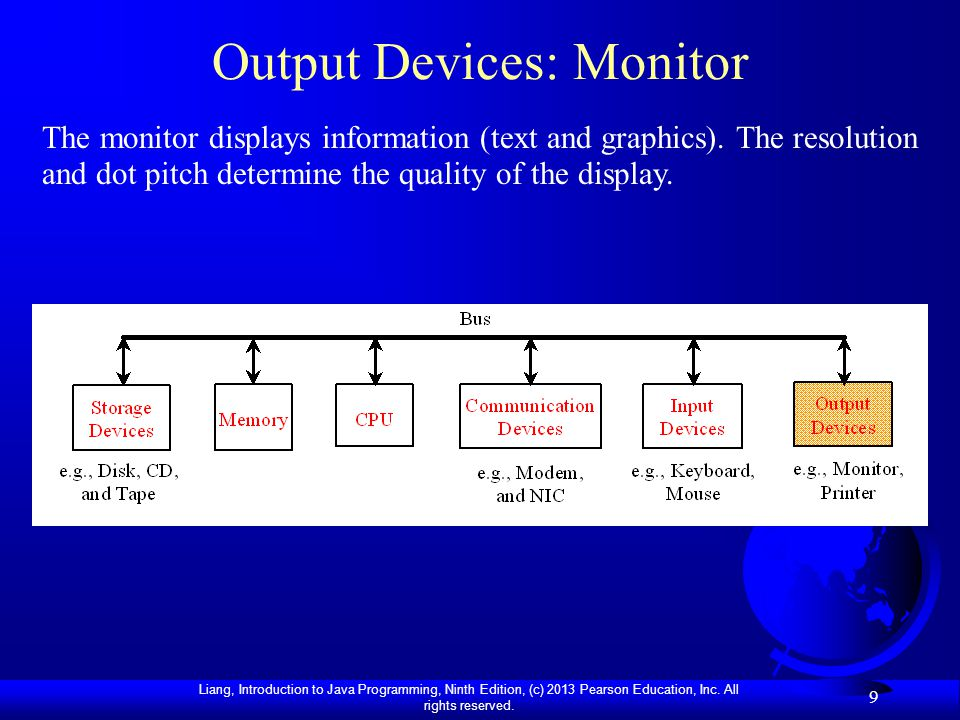 Output Devices: Monitor