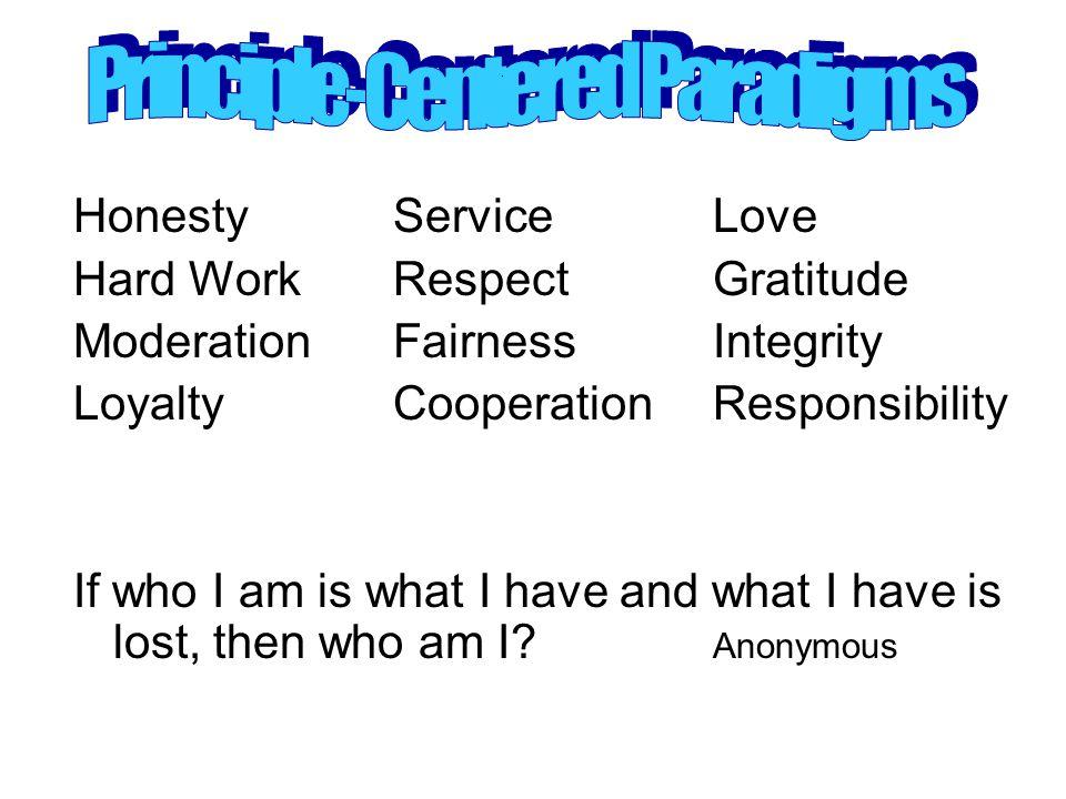 Principle-Centered Paradigms
