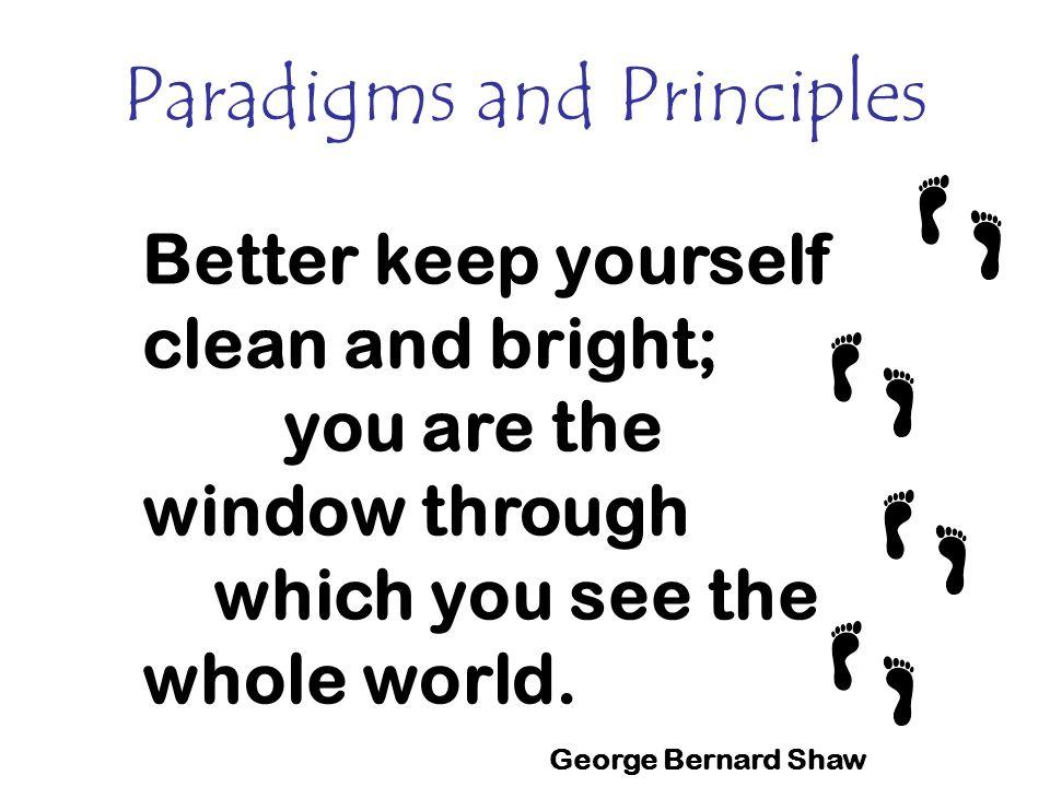 Paradigms and Principles