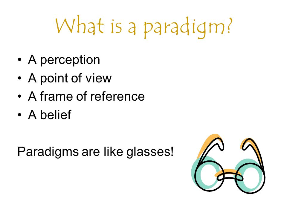 What is a paradigm A perception A point of view A frame of reference