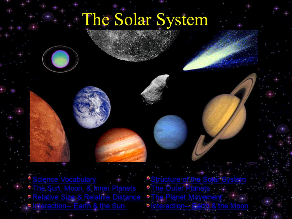 The Solar System Science Vocabulary Structure of the Solar System