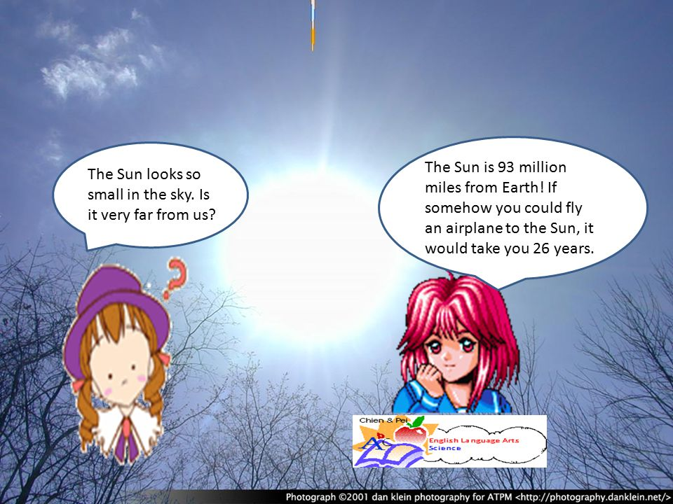 The Sun is 93 million miles from Earth