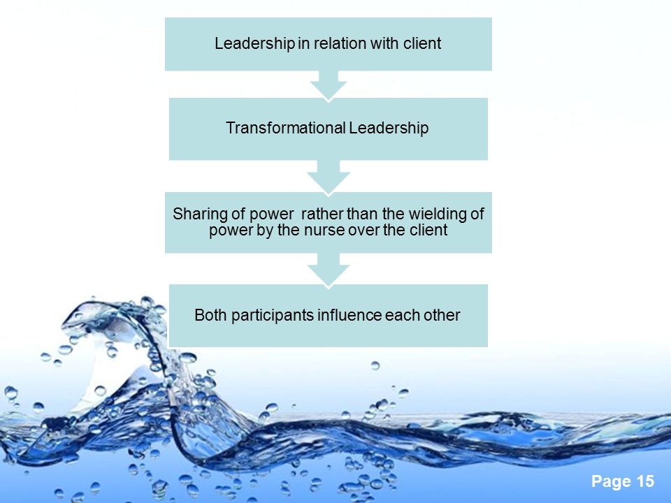 Leadership in relation with client Transformational Leadership
