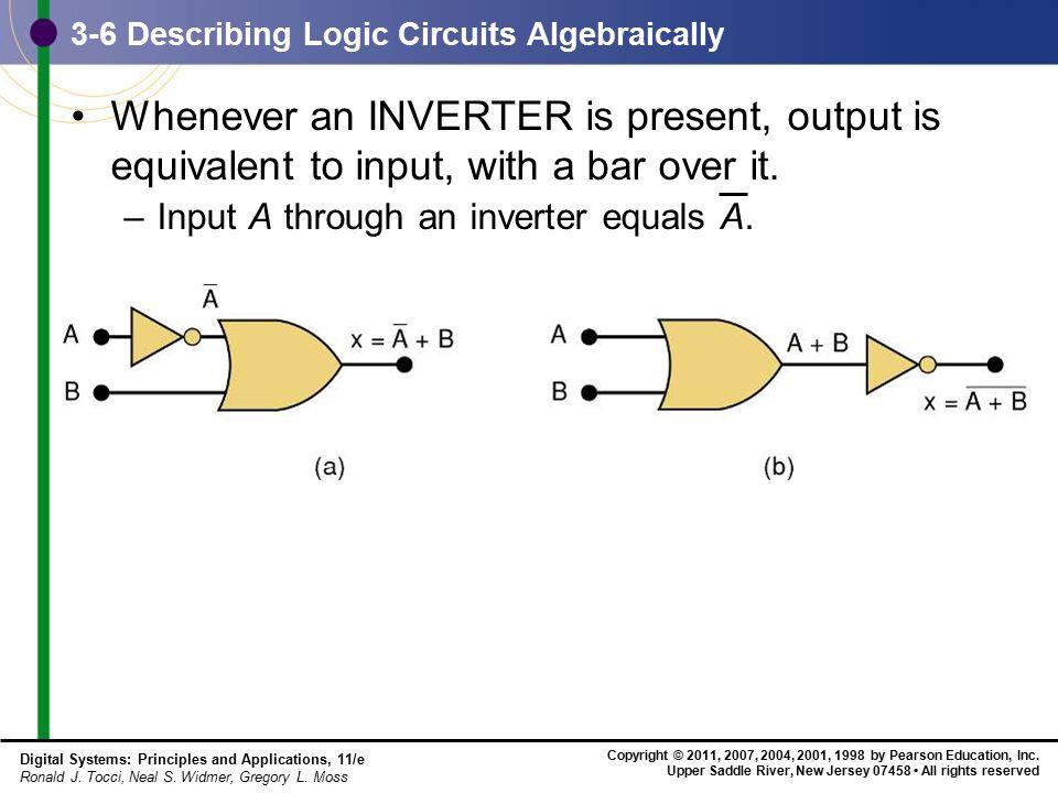 3-6 Describing Logic Circuits Algebraically