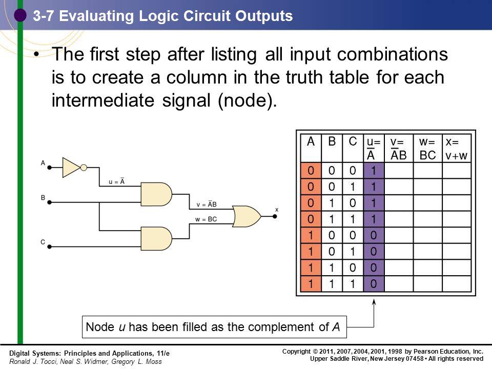 3-7 Evaluating Logic Circuit Outputs