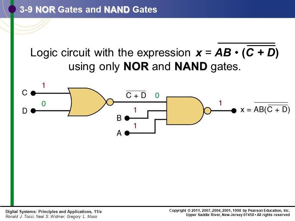 3-9 NOR Gates and NAND Gates