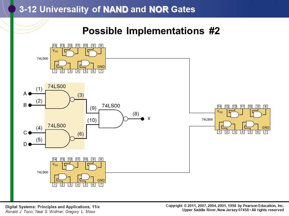 3-12 Universality of NAND and NOR Gates