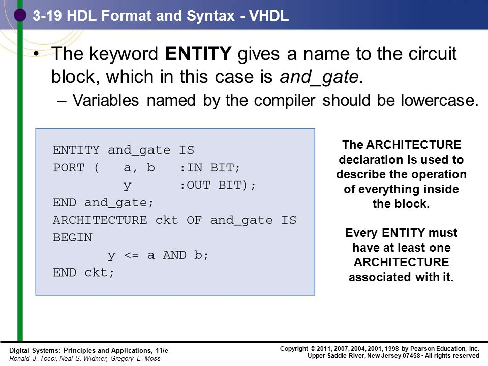 3-19 HDL Format and Syntax - VHDL
