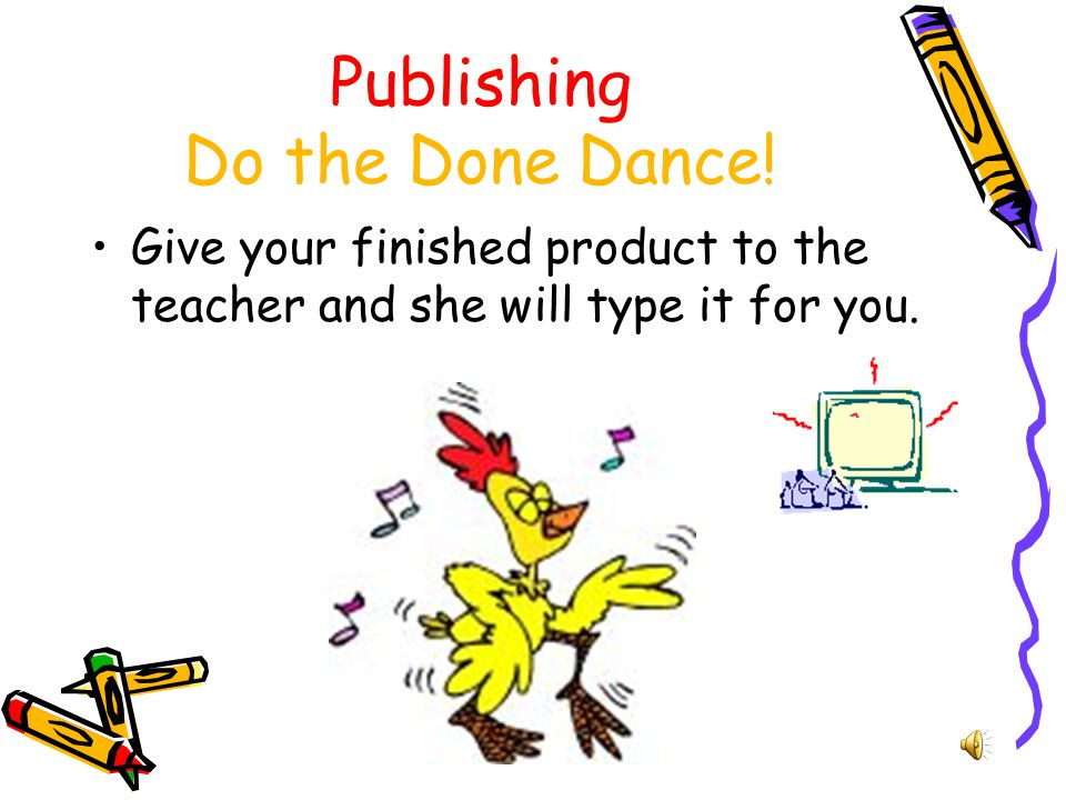 Publishing Do the Done Dance!