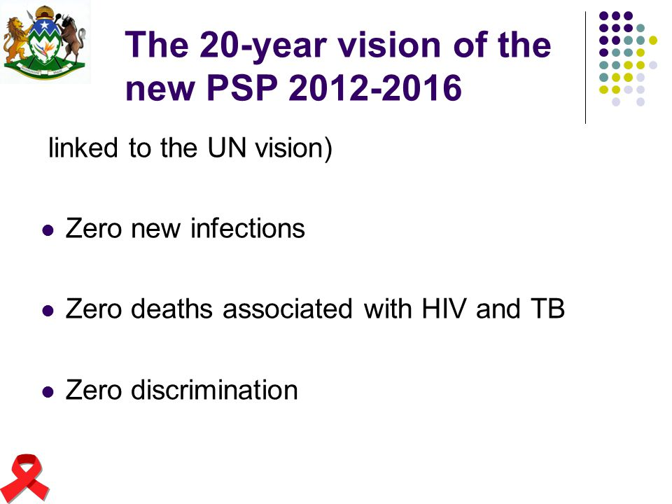 The 20-year vision of the new PSP 2012-2016