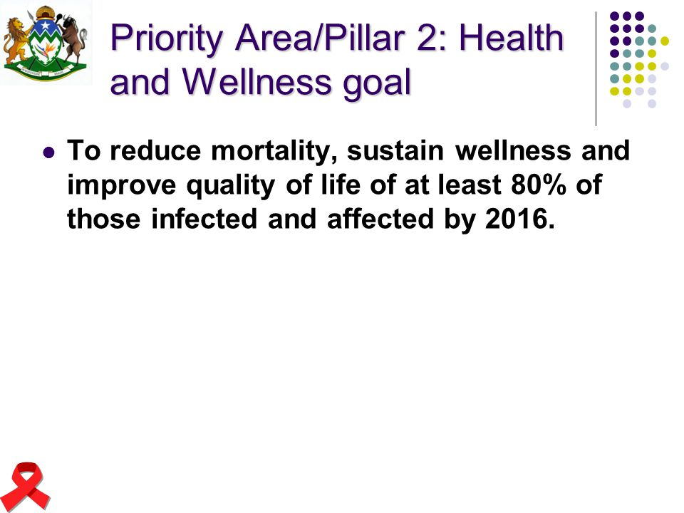 Priority Area/Pillar 2: Health and Wellness goal