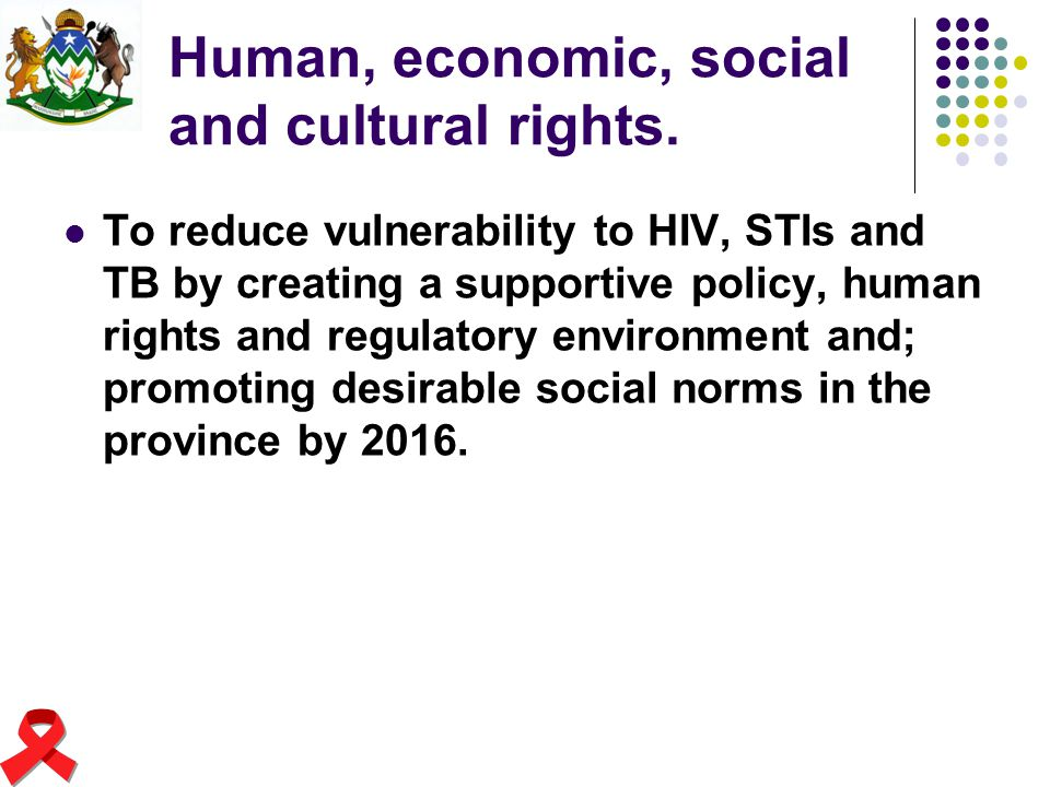 Human, economic, social and cultural rights.