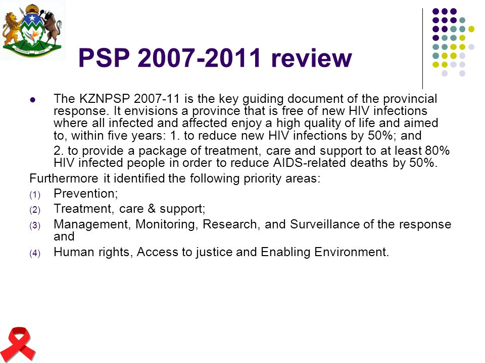 PSP 2007-2011 review
