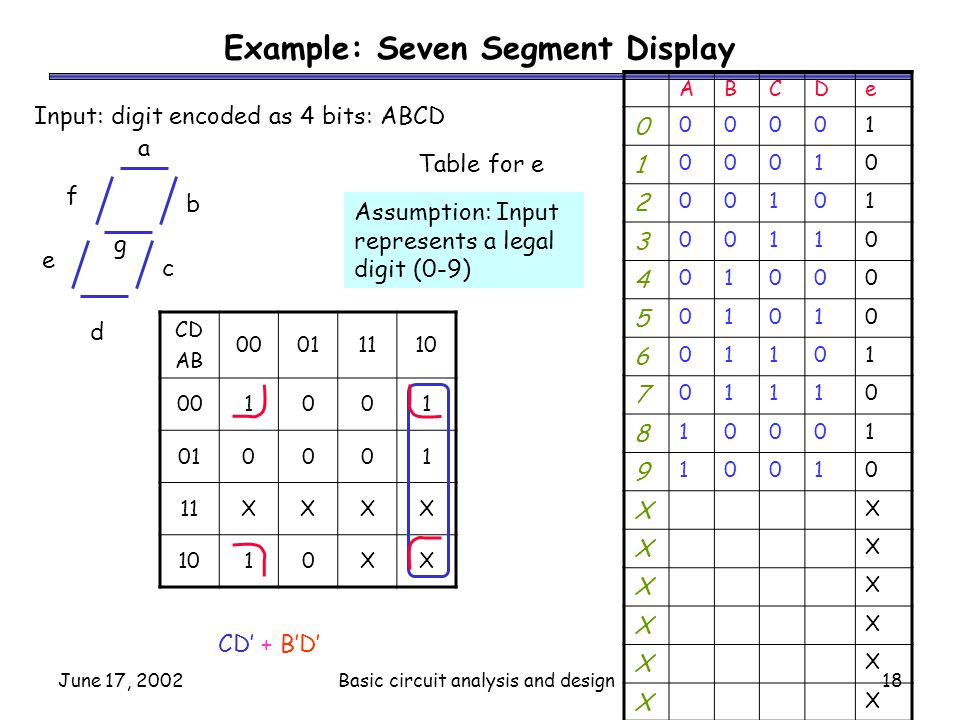 Example: Seven Segment Display