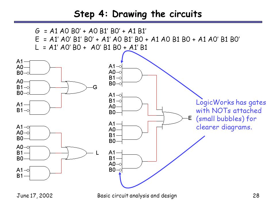Step 4: Drawing the circuits