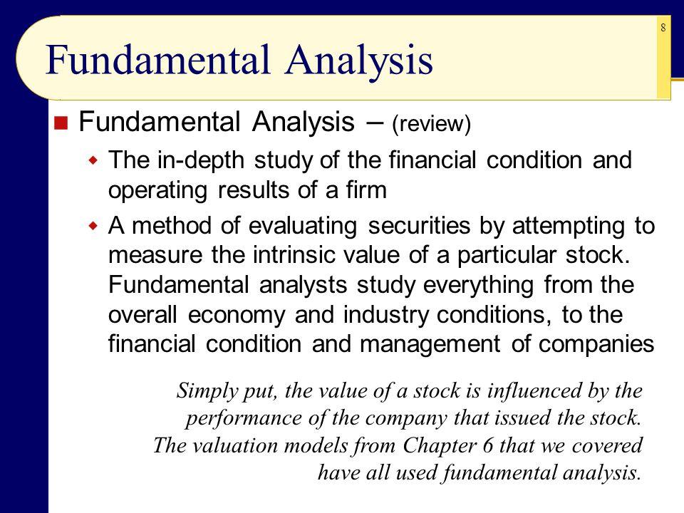 Fundamental Analysis Fundamental Analysis – (review)