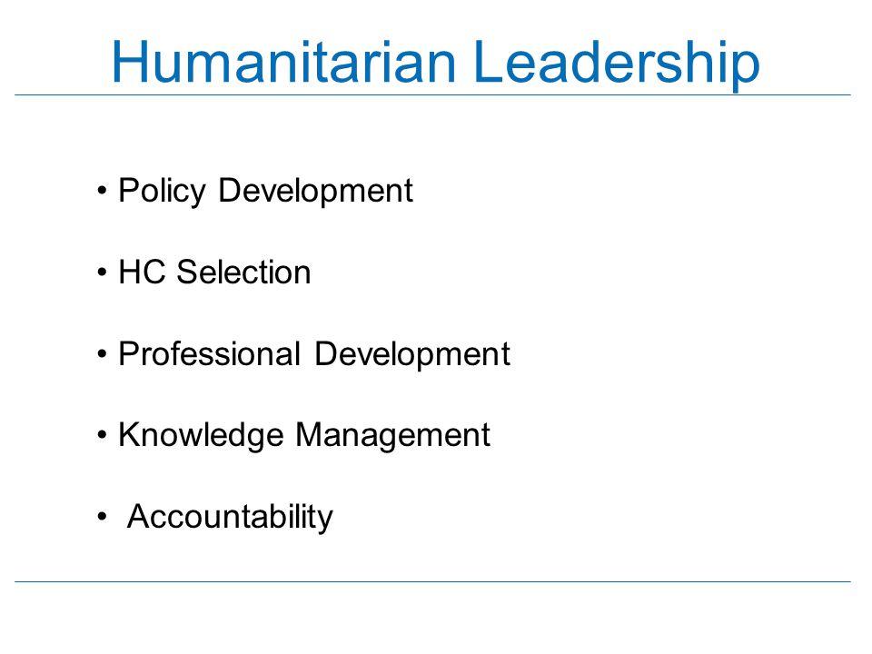 Humanitarian Leadership
