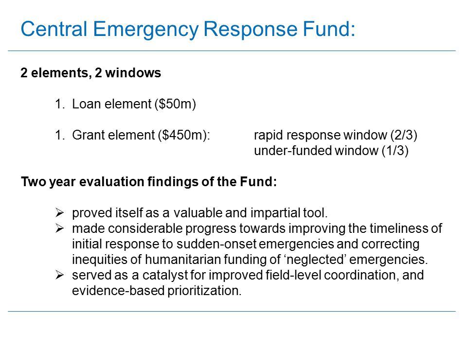 Central Emergency Response Fund: