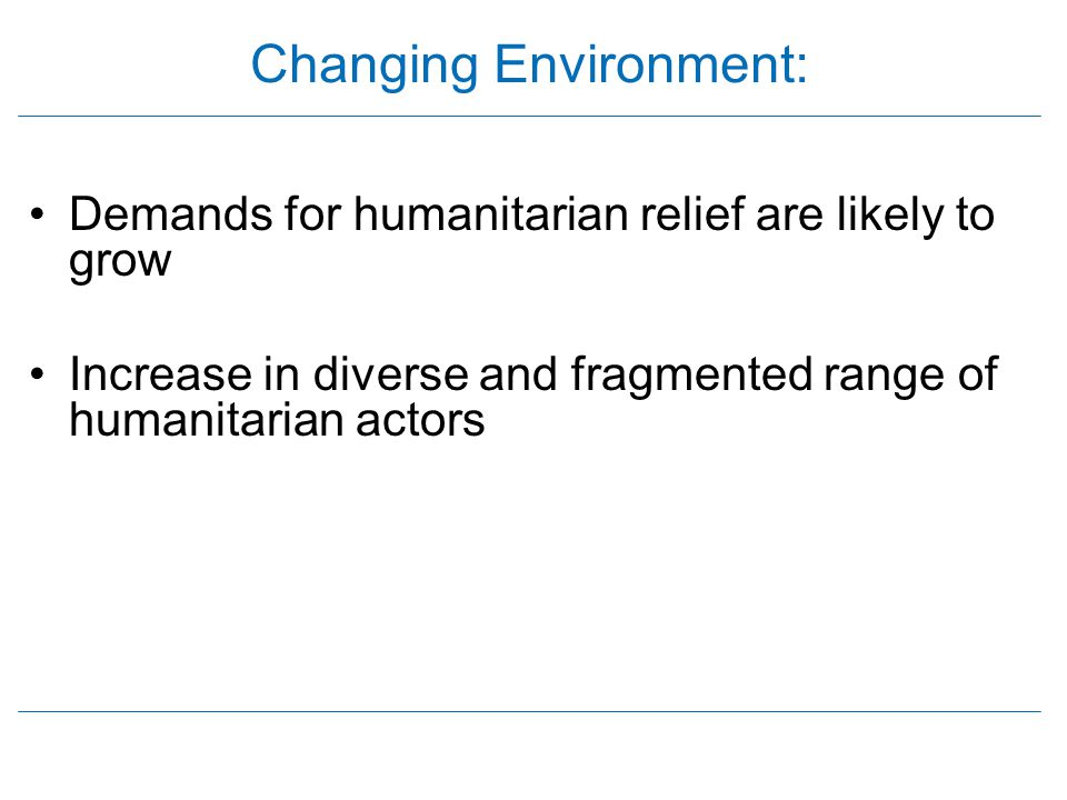 Changing Environment: