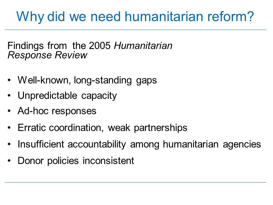 Why did we need humanitarian reform